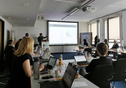 German Biobank Alliance staff present pilot for online sample search tool