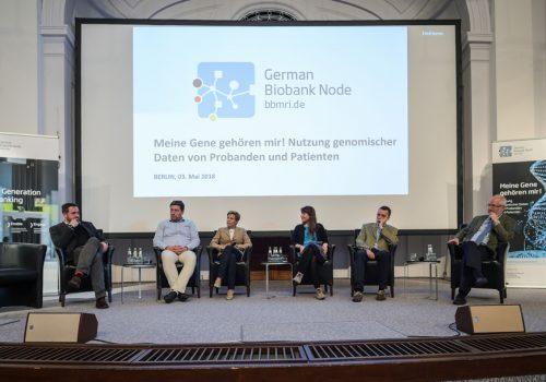 German Biobank Node Workshop, Meine Gene gehoeren mir, My genes are mine, panel discussion