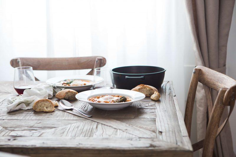 Mediterranean dish on a table