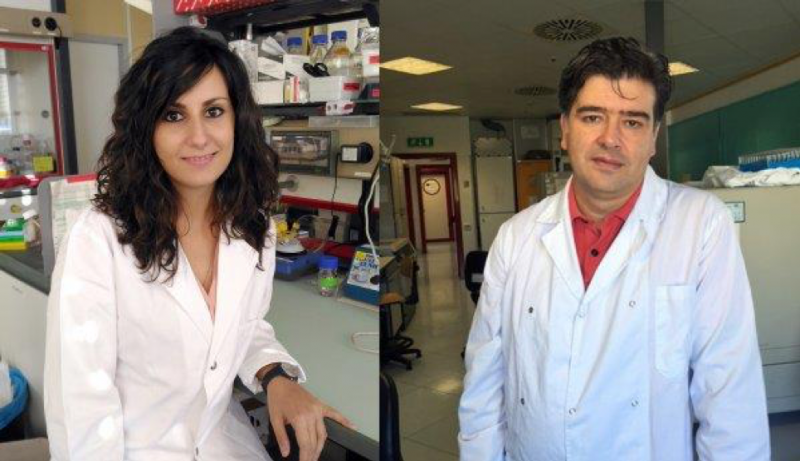 Pasqualena De Nittis, coordinator of the study group, and Giuseppe Merla, member of the study group and director of the biobank, 2016 (Photo: IRCCS Casa Sollievo della Sofferenza, www.operapadrepio.it)